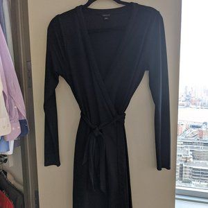 Black Ann Taylor Wrap Dress